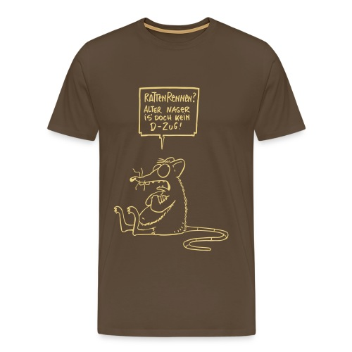 Rattenrennen hell - Männer Premium T-Shirt
