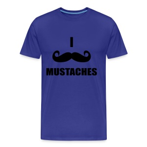 MUSTACHES! Male - Men's Premium T-Shirt