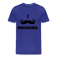 T-Shirts ~ Men's Premium T-Shirt ~ MUSTACHES! Male