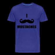 T-Shirts ~ Men's Premium T-Shirt ~ MUSTACHES! Male