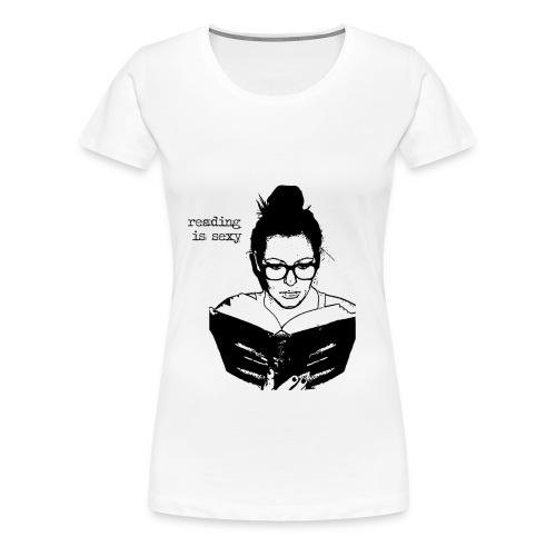 Reading is sexy - Shirt - Frauen Premium T-Shirt
