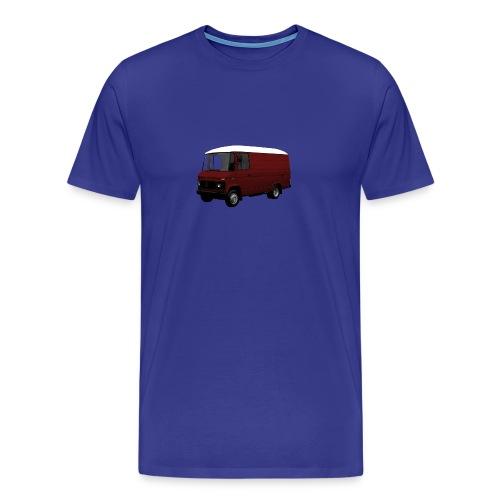 MB508 kort hoog in bordeax/wit - Mannen Premium T-shirt