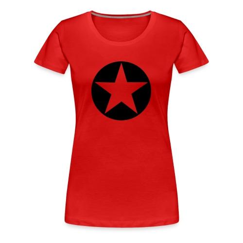 Rotes Demo Shirt. Solidarität - Frauen Premium T-Shirt