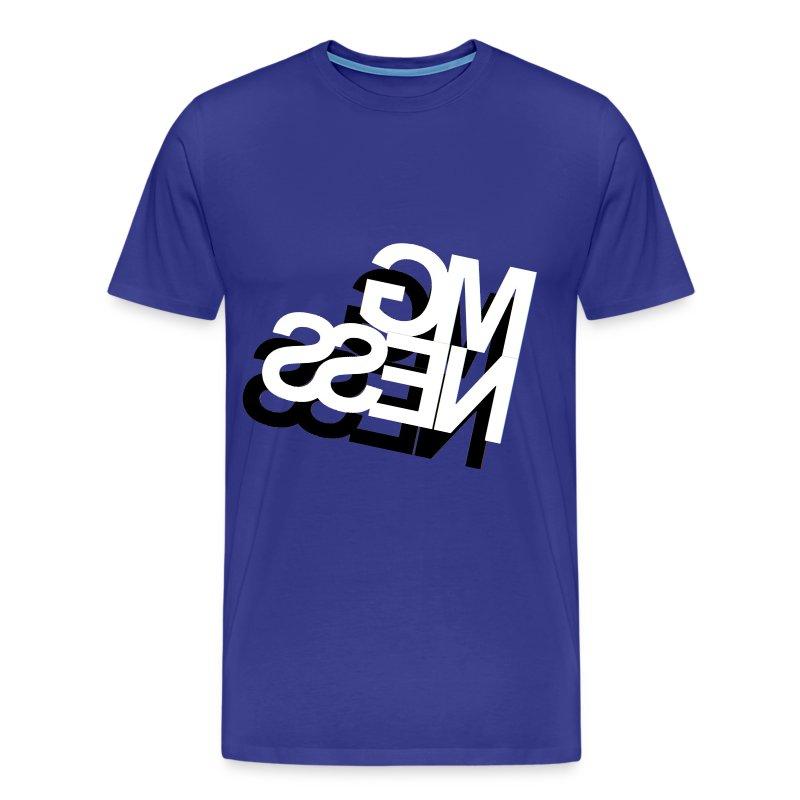 MGness DoubleLogo Blue classic - Männer Premium T-Shirt