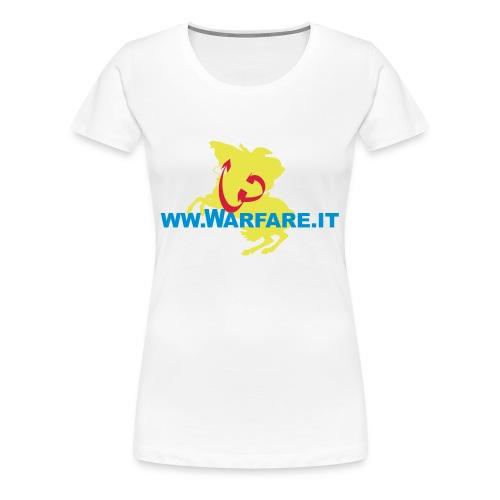 Logo del sito www.warfare.it - Maglietta Premium da donna