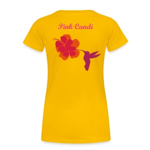 Pink Candi Bird And Flower T-Shirt - Women's Premium T-Shirt