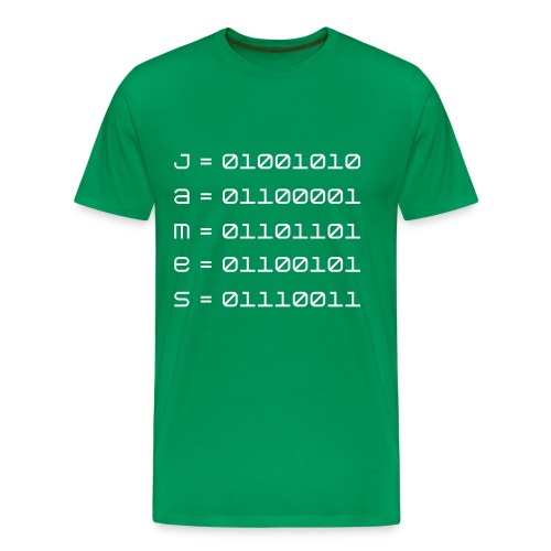 James in ASCII - Men's Premium T-Shirt