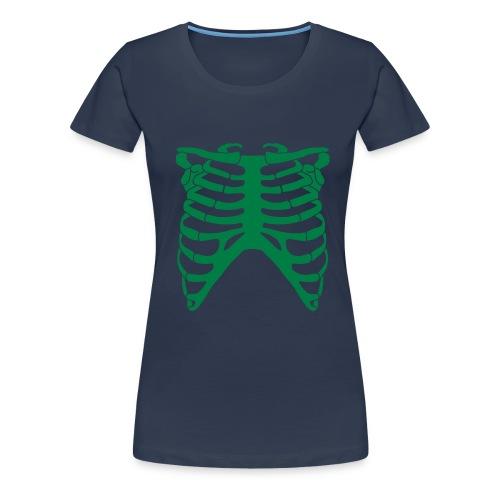 Vihreät keuhkot - Naisten premium t-paita