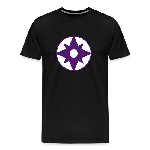 Sheldon's Violet Lantern - Mannen Premium T-shirt