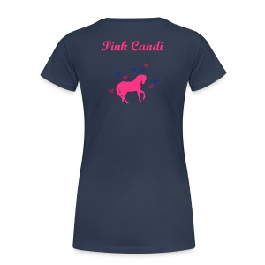Pink Candi Horse And Butterfly T-Shirt - Women's Premium T-Shirt