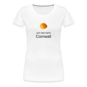 Surf Cornwall Shell Design t-shirt - Women's Premium T-Shirt