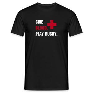 Give blood-Play rugby - Men's T-Shirt