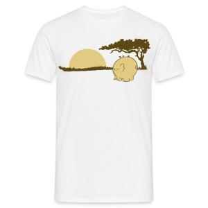 Ngumbe im Sonnenuntergang - Männershirt - Männer T-Shirt