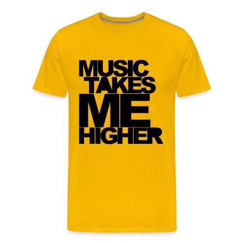 MUSIC TAKES ME HIGHER - Männer Premium T-Shirt