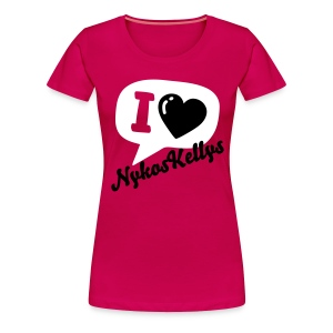 Chatting Love By Nykos Kellys  - Women's Premium T-Shirt