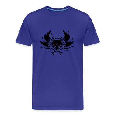 A crow with a laurel wreath and dangerous eyes T-Shirts