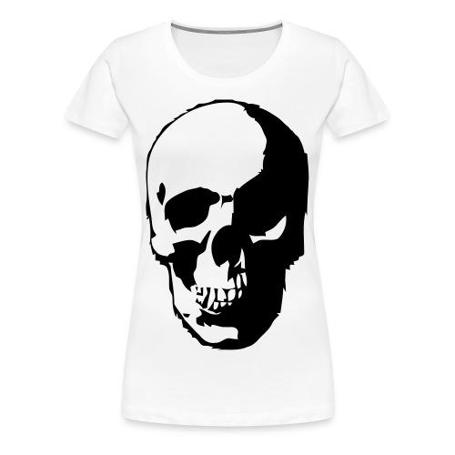 koszulka damska z czaszką - Koszulka damska Premium