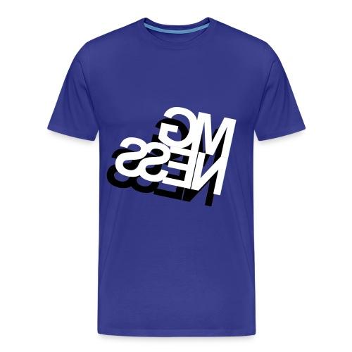 MGness DoubleLogo Royalblue classic - Männer Premium T-Shirt