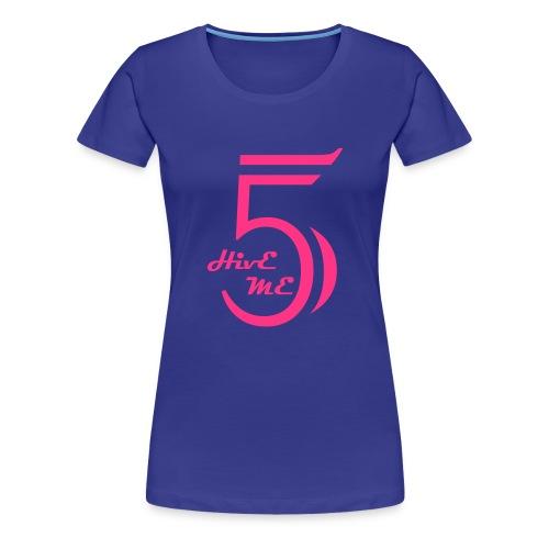 Hive Me Five Türkis Girl - Frauen Premium T-Shirt