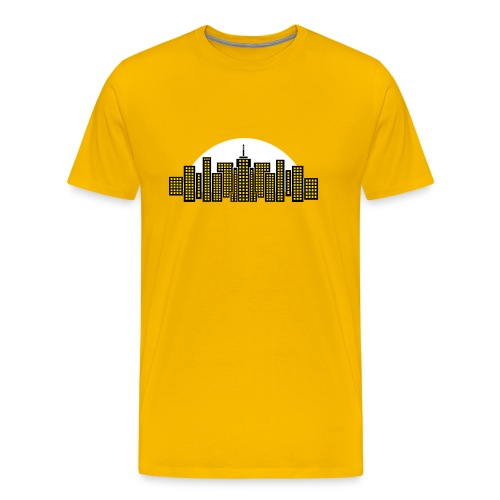 Cityscape Tee Mens' (Yellow) - Men's Premium T-Shirt
