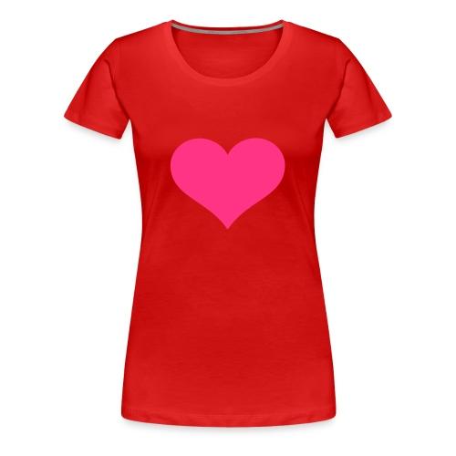 Pink heart - Dame premium T-shirt