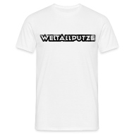 T-Shirts ~ Männer T-Shirt ~ Weltallputze Grunge schwarz klassisch