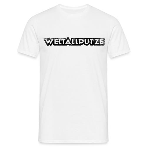 Weltallputze Grunge schwarz klassisch - Männer T-Shirt