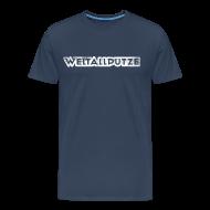 T-Shirts ~ Männer Premium T-Shirt ~ Weltallputze Grunge weiss XXXL
