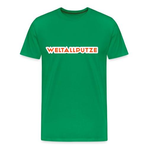 Weltallputze T-Shirt klassisch (Neorange) - Männer Premium T-Shirt
