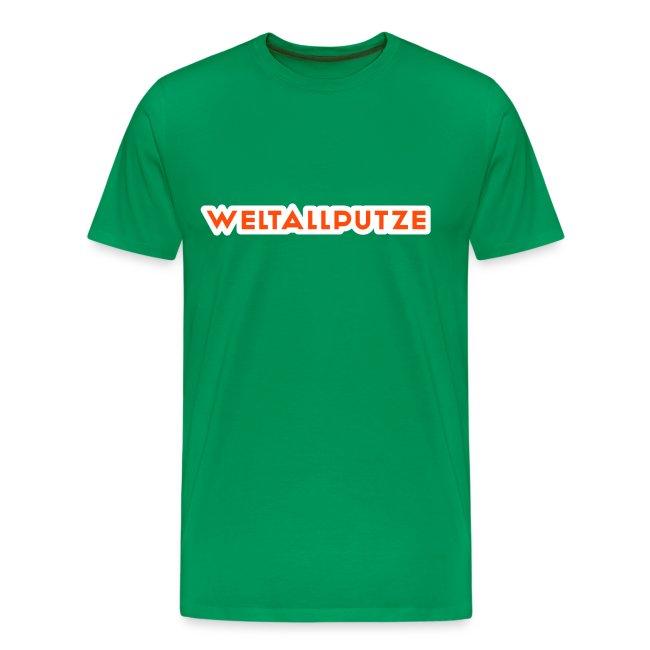 Weltallputze T-Shirt klassisch (Neorange)