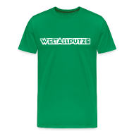 T-Shirts ~ Männer Premium T-Shirt ~ Weltallputze Grunge weiss klassisch