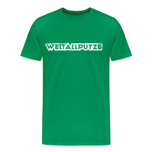Weltallputze Grunge weiss klassisch - Männer Premium T-Shirt