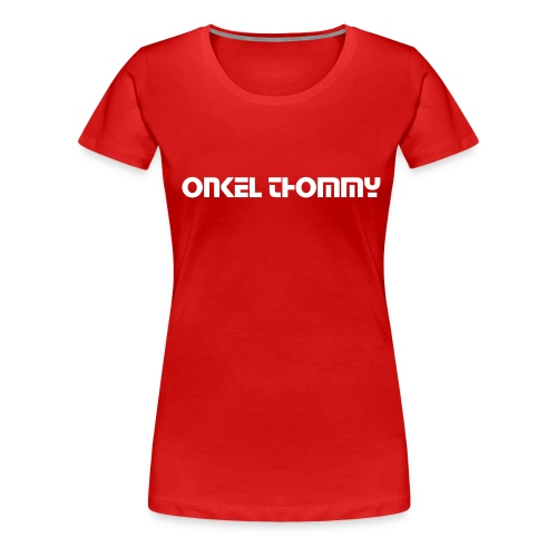 Girlie-shirt_rot - Frauen Premium T-Shirt