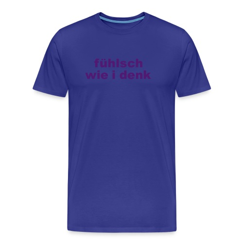 Basic-Shirt Männer purple fühlsch wie i denk - Männer Premium T-Shirt