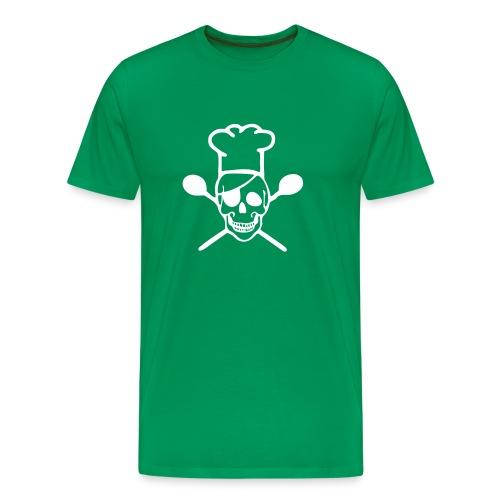 Männer Premium T-Shirt - Chefkoch,Koch,Skull,Totenkopf