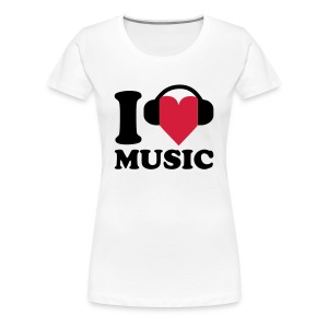 I love Music T-Shirts - Women's Premium T-Shirt