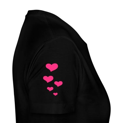 Hearts black - Frauen Premium T-Shirt
