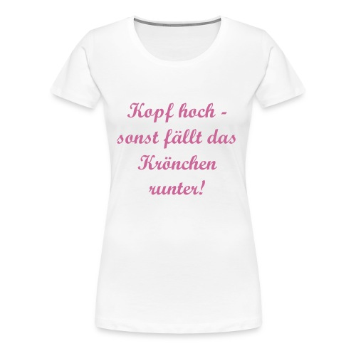 Krönchen rosa glitzer/Big Ladies - Frauen Premium T-Shirt