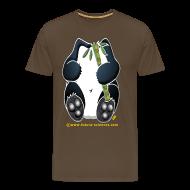 Tee shirts ~ T-shirt Premium Homme ~ Panda homme marron