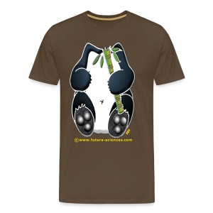 Panda homme marron - T-shirt Premium Homme