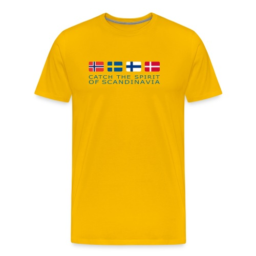 Classic T-Shirt CATCH THE SPIRIT OF SCANDINAVIA blue-lettered - Men's Premium T-Shirt