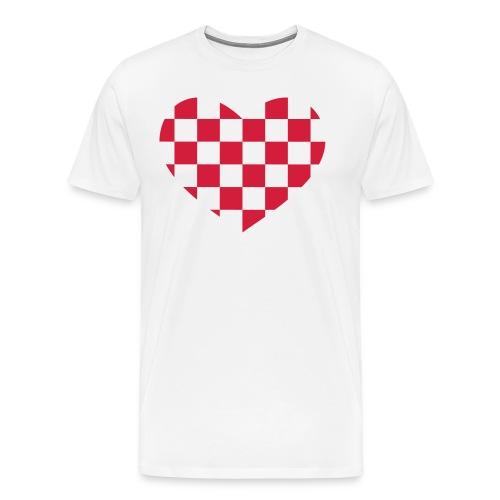 Hjärta-forza rövitt - Premium-T-shirt herr