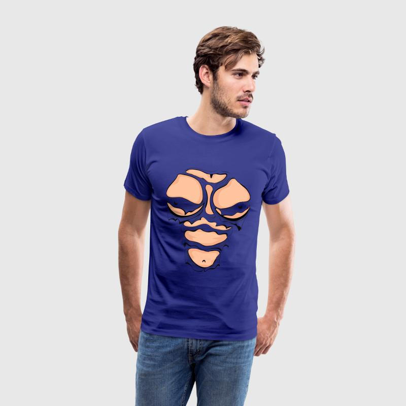 Ripped Muscles Female, chest T-shirt - Men's Premium T-Shirt