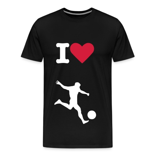 I Love Fussball - Männer Premium T-Shirt