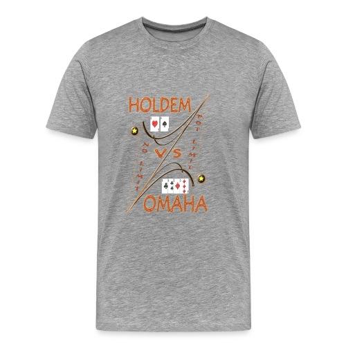Tee-shirt poker homme Holdem vs Omaha - TT Pokerwear - T-shirt Premium Homme
