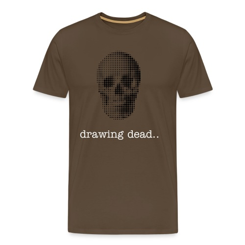 Drawing Dead Skull Tee! - Men's Premium T-Shirt
