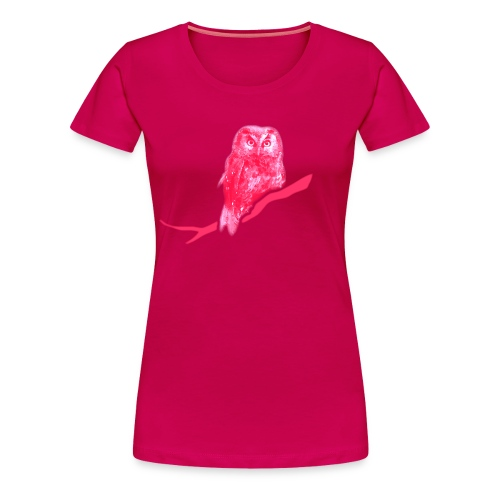 Damen Girlie Shirt Eule Kauz Uhu kauzig Tiershirt Shirt Tiermotiv - Frauen Premium T-Shirt