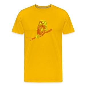 Männer Shirt Eule Kauz Uhu kauzig Tiershirt Shirt Tiermotiv - Männer Premium T-Shirt