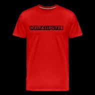T-Shirts ~ Männer Premium T-Shirt ~ Weltallputze Grunge schwarz XXXL