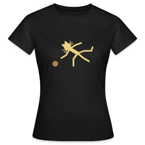 Katzenshirt Kittycat kegelt - Frauen T-Shirt